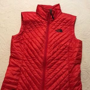 The North Face red vest